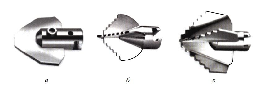 Насадки для механической прочистки труб