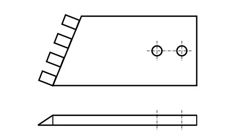 нож косилки КР-1,3