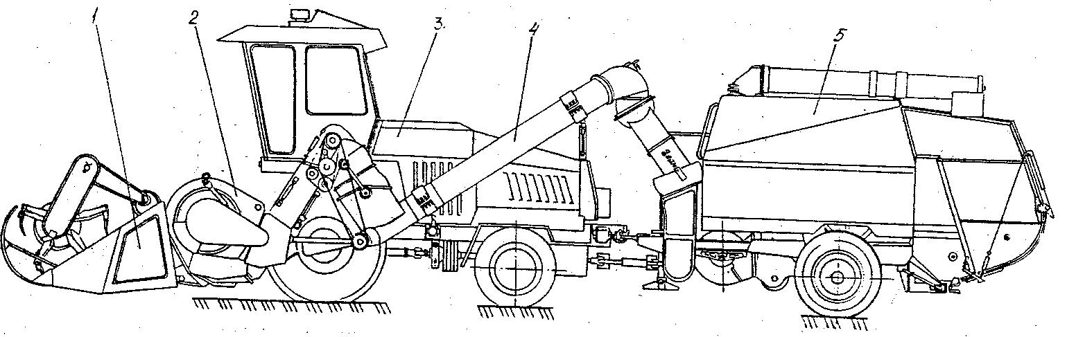 Общее устройство комплекса зерноуборочного роторного КЗР-10 «Полесье-ротор»