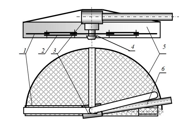 однороторная двухножевая косилка