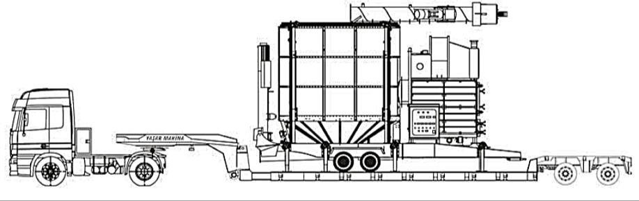 Перевозка сушилки YGD-1840 на трейлере