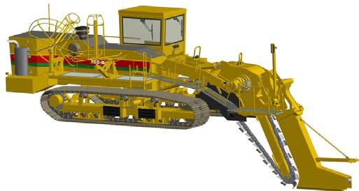 Перспективный цепной скребковый экскаватор-дреноукладчик