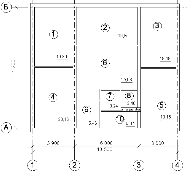 План проектируемого дома