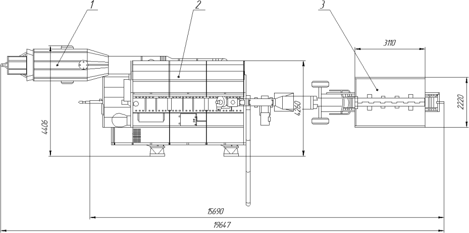 План размещения оборудования зерносушилки