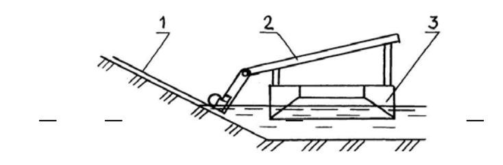Плавучая косилка с боковым сегментным рабочим органом