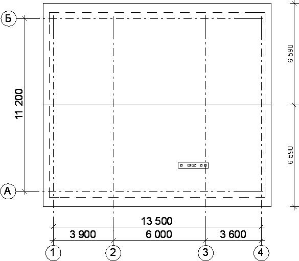 Положение конька крыши