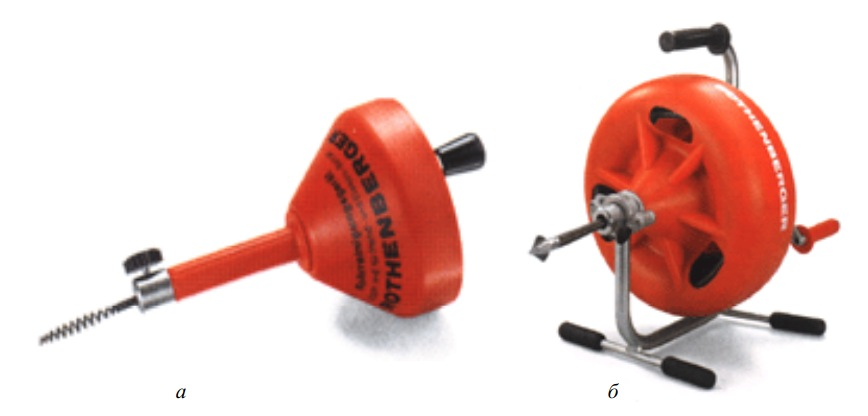 Приспособления для ручной механической прочистки труб