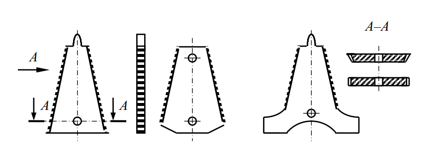 противорежущие пластины (вкладыши) сегментно-пальцевого режущего аппарата