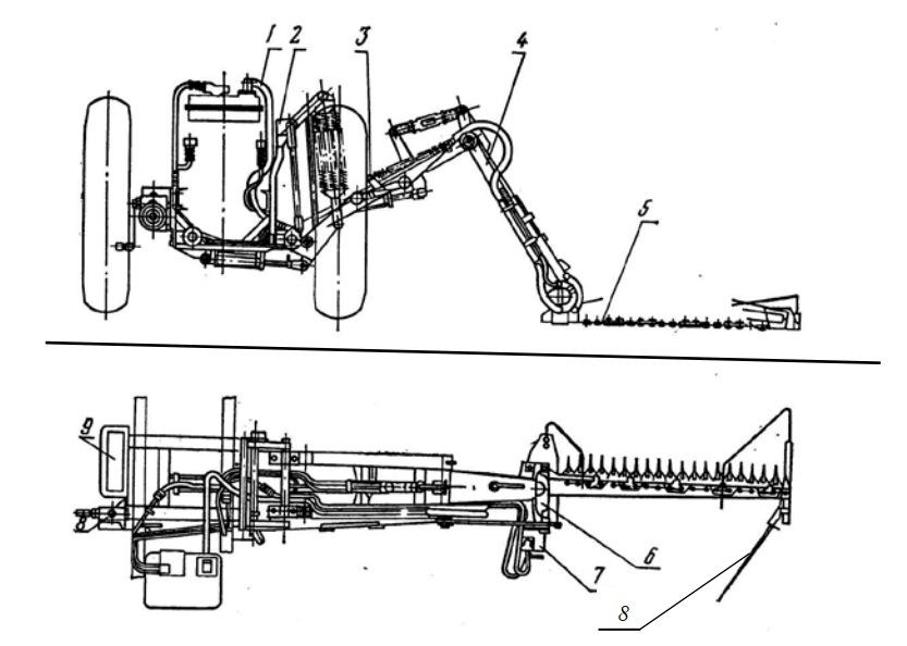 рабочее оборудование сегментно-пальцевого режущего аппарата