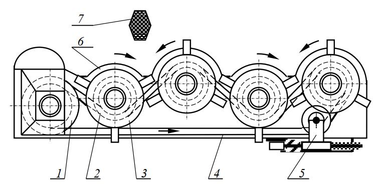 рабочий орган косилки с ременным приводом роторов
