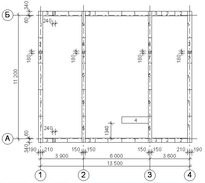 Раскладка 2-го ряда фундаментных блоков