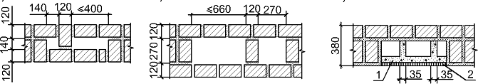 Размеры вентиляционных и дымовых каналов в кирпичных стенах