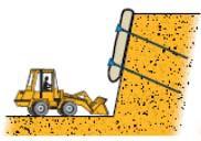 Разработка (снятие) грунта нижнего пласта
