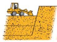 Разработка (снятие) грунта верхнего пласта