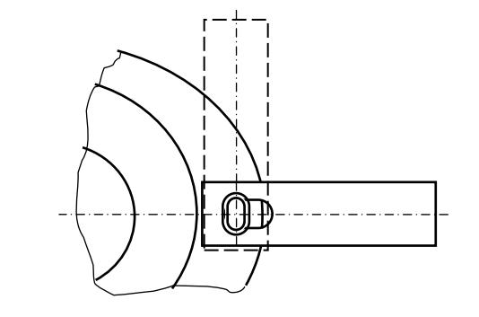 Ротор косилки с легко заменяемыми ножами (вид снизу)
