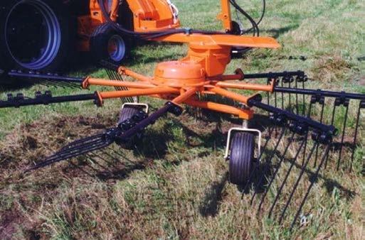 Роторный рабочий орган с гидроприводом подборщика срезанной растительности
