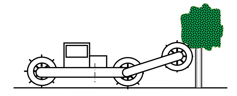 Самоходный древовал с дополнительным катком