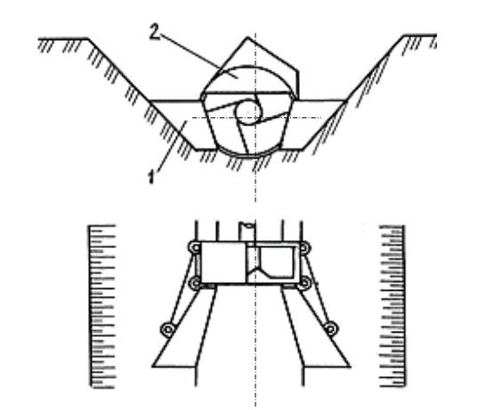 Схема фрезерного рабочего органа с открылками