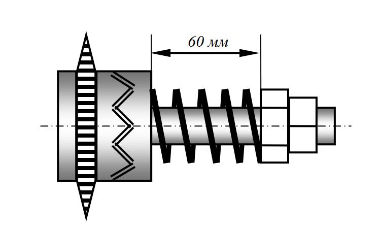 Схема к регулировке предохранительной муфты привода транспортера