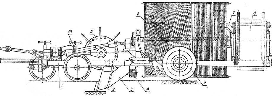 Схема камнеуборочной машины КБМ-1,4