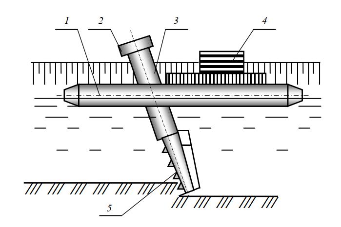 Схема плавучего каналоочистителя