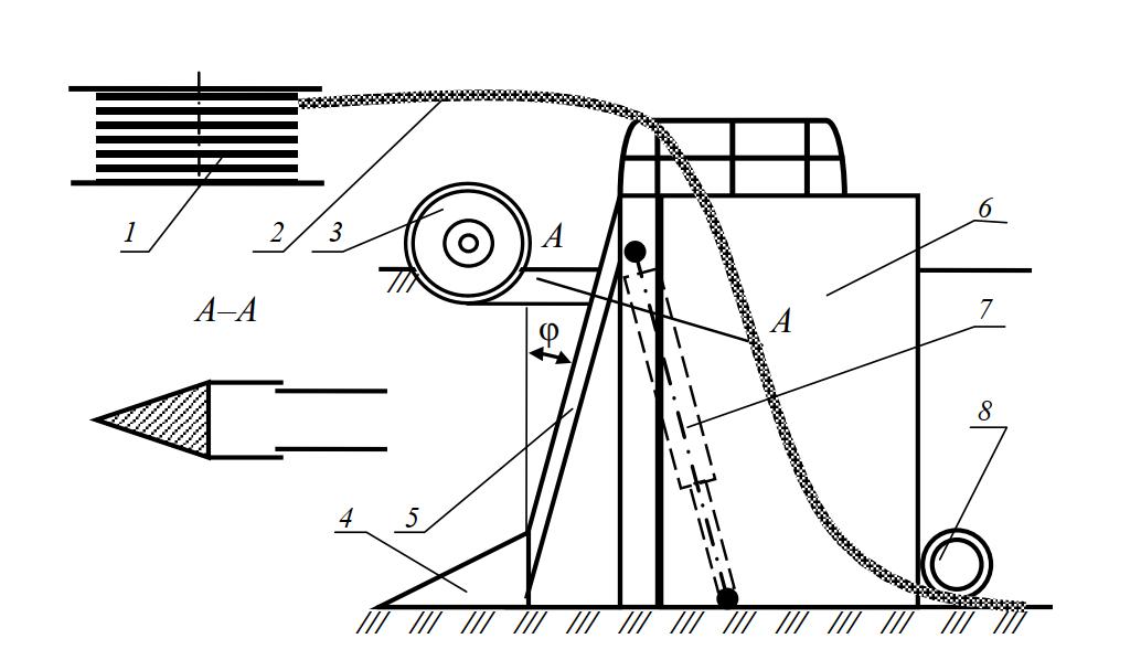 Схема рабочего органа дреноукладчика МД-12