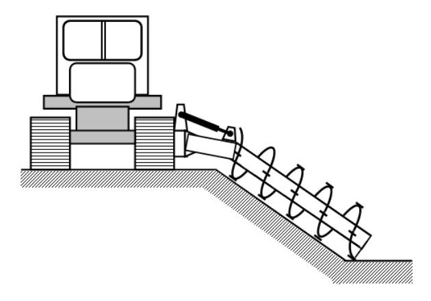 Схема рабочего органа шнековой косилки