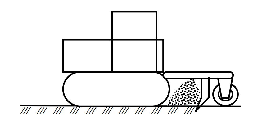 Схема работы кустарниковых граблей, навешенных сзади