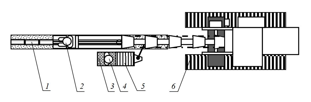 Схема работы с бункером для укладки трубок