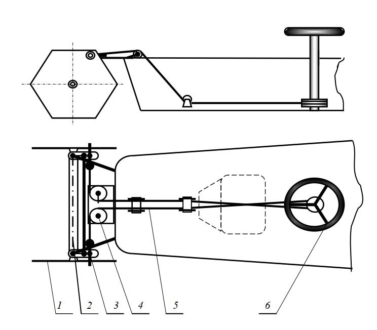 Схема рулевого управления косилки ЛК-12