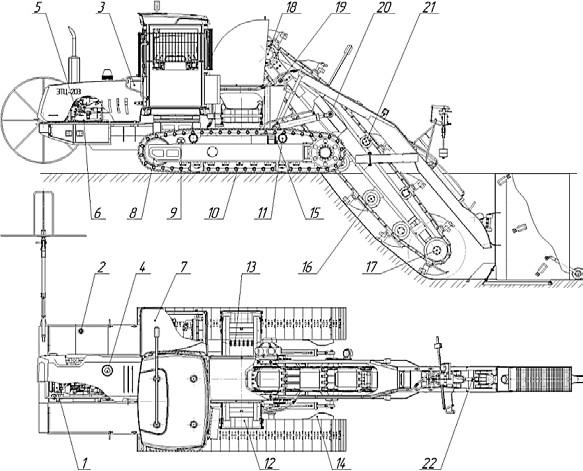Схема смазывания экскаватора-дреноукладчика