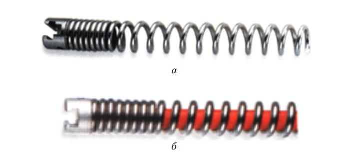 Спиральные стандартные насадки для механической прочистки труб