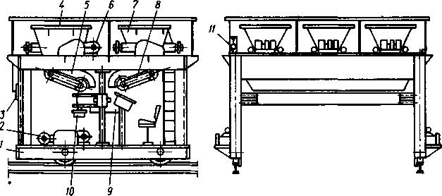 Трехбункерный бетоноукладчик