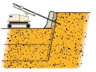 Устройство наружной оболочки верхнего пласта набрызг-бетоном
