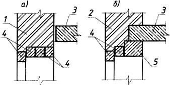 Устройство проемов в каменных стенах с применением сборных железобетонных перемычек