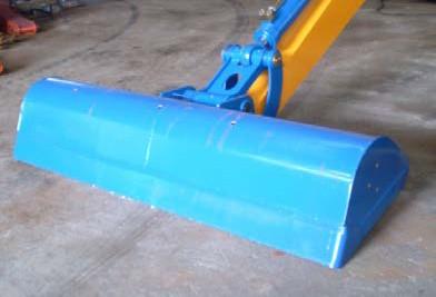 Вид ковша уширенного поворотного с прямой режущей кромкой