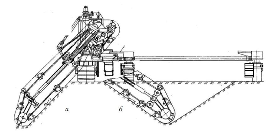 Вид сзади на каналоочиститель МР-15 и схемы его работы