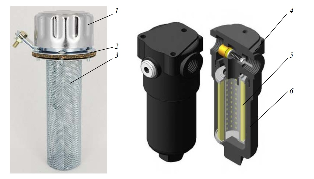 Заливная горловина и напорный фильтр с фильтроэлементом D111G10A