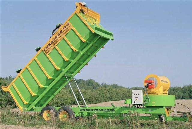 Зерносушилка с поднятым кузовом
