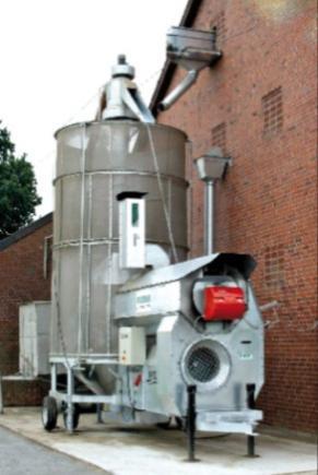 Зерносушильная мобильная установка