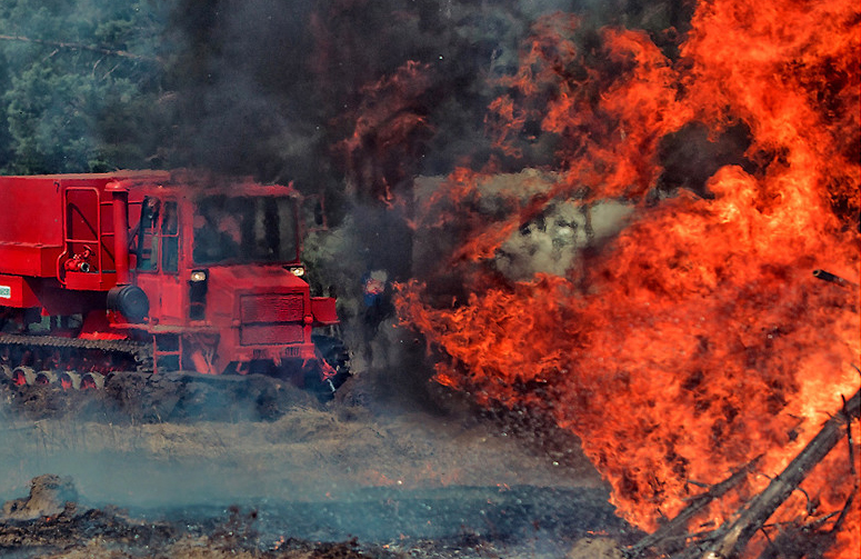 Противопожарные системы защиты лесных машин