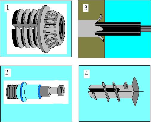 Механические соединения облегченных щитов