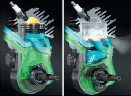 Работа современного двигателя с предварительной продувкой