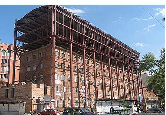 Реконструкция здания методом надстройки