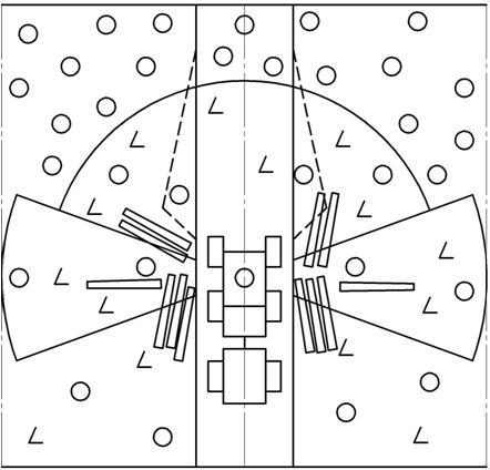 Схема обработанной рабочей зоны с одной рабочей позиции харвестера