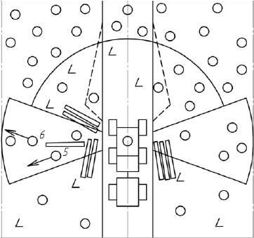 Схема очередности и направления валки деревьев в левом боковом секторе