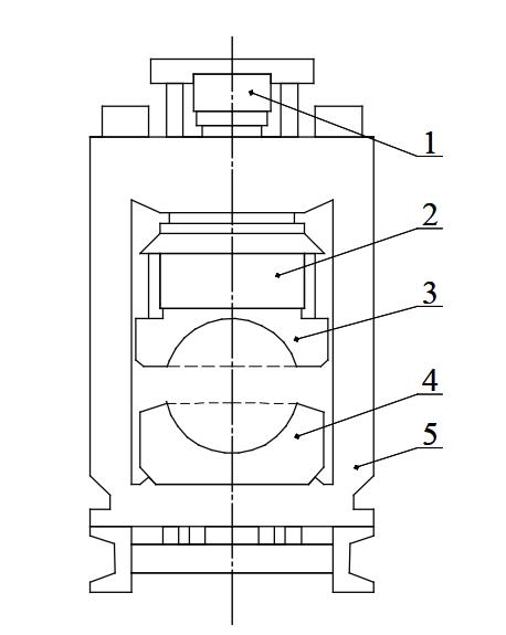 Схема пресса для окончательной формовки трубной заготовки