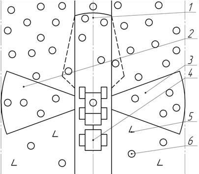 Схема расположения секторов валки деревьев.