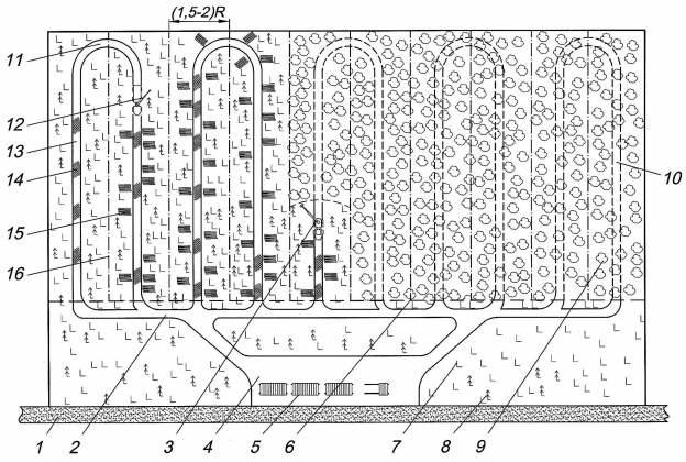 Схема разработки лесосек с использованием харвестера и форвардера