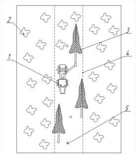 Схема разработки трассы волока ВТПМ